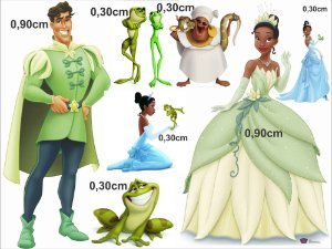 A Princesa e o Sapo 02 - Kit Display em MDF 3mm