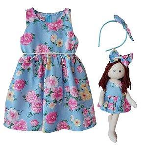 Kit Completo com Boneca Petit Rosas