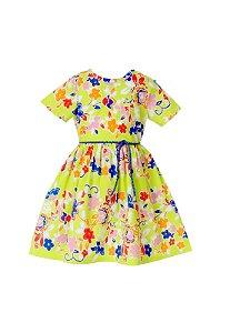 Vestido Petit Verde Floral