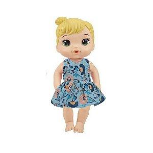 Vestido Boneca Camélias Baby Alive