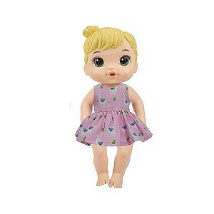 Vestido Boneca Lhama Baby Alive
