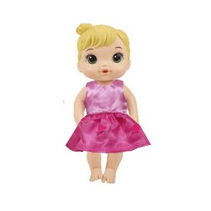 Vestido Boneca Rosa Festa Baby Alive