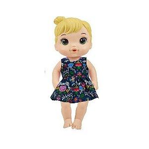 Vestido Boneca Fantasy Marinho Baby Alive