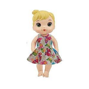Vestido Boneca Jardim Encantado Baby Alive