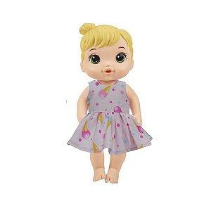 Vestido Boneca Sorvete Baby Alive