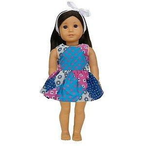 Vestido Boneca Patch American Girl