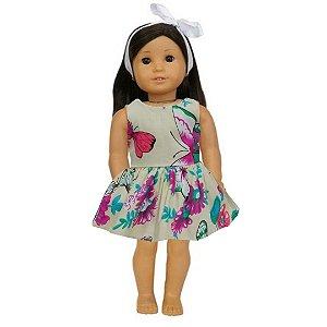 Vestido Boneca Borboletas American Girl