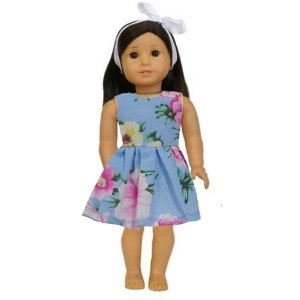 Vestido Boneca Rosas American Girl