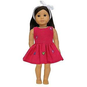 Vestido Boneca Amor American Girl