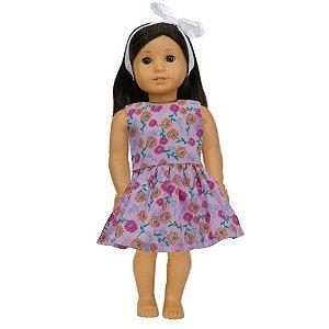 Vestido Boneca Lilás American Girl