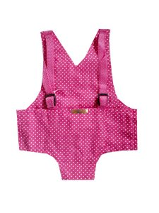 Canguru Bolinhas Pink para Boneca Bebê Reborn