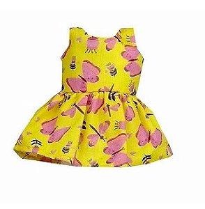 Vestido Boneca Amarelo