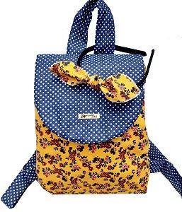 Mochila Petit Amarelo Flores
