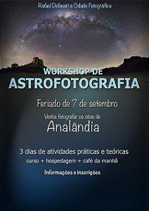 CURSO ASTROFOTOGRAFIA EM ANALÂNDIA / COM HOSPEDAGEM QUARTO TRIPLO