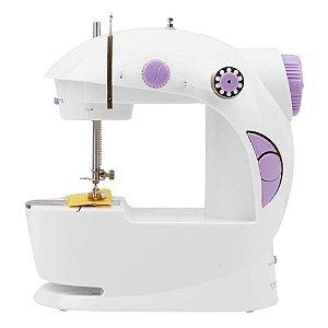 Máquina De Costura Portátil - A Pilha Ou Pedal Bivolt