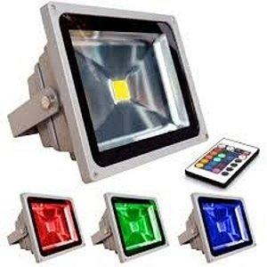 Refletor de LED 50w Colorido RGB à prova D' água IP65