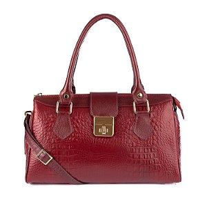 Bolsa de couro feminina Bethy vermelha