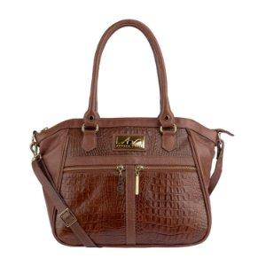 Bolsa Lucy em couro legítimo pinhão