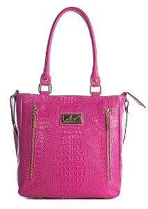 Bolsa Liz em couro legítimo pink