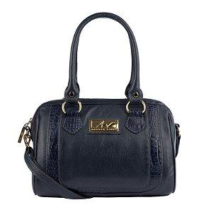 Bolsa Chessy em couro legítimo azul