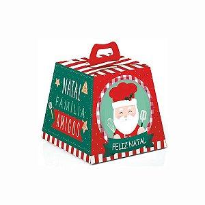 Caixa Mini Panetone e Chocotone Noel Chef - 10 unid