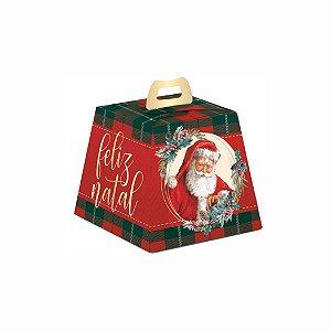Caixa Mini Panetone e Chocotone Noel Boas Festas - 10 unid