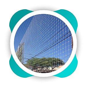 Rede de Proteção Esportiva  para Lateral e Fundo de Quadra de Futsal e Campo de Futebol e Society Fio 4mm Malha 15cm Nylon