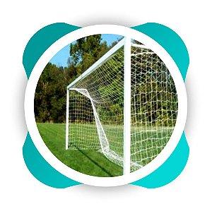 Par Redes Gol Society Fio 4  Malha 14 Modelo Véu Nylon (Futebol Society) - 6 Mts