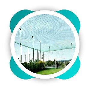 Rede de Proteção Esportiva para  Quadra de Futsal, Campos Futebol e Society Fio 2mm Malha 8cm Nylon