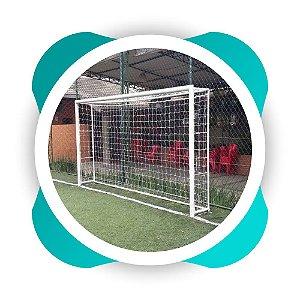 Par  Rede Gol Futsal Fio 6 Malha 12 Modelo Mexico Futebol de Salão