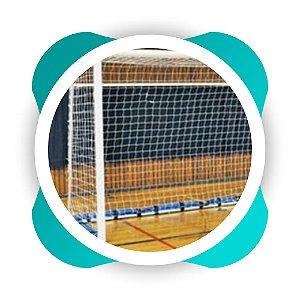 Par Rede Gol Futsal Fio 8 Malha 12 Modelo Véu Futebol de salão