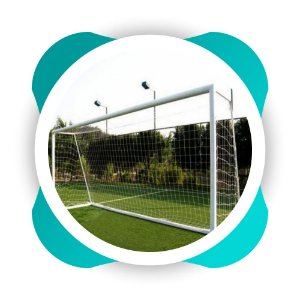 Par Rede Gol Futebol de Campo Fio 8mm  Veu Nylon