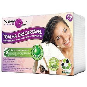 Toalha Descartavel para Cabelo - Reciclavel - newline com 50 unidades
