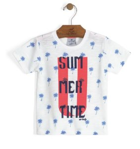 Camiseta em Meia Malha Flamê Sublimada - Up Baby