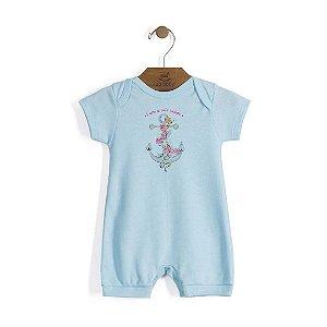 Macaquinho em Suedine Bebê Menina - Up Baby