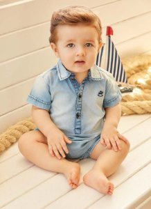 Macaquinho Curto  Jeans - Up Baby
