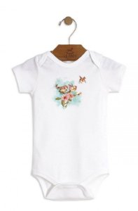 Body Branco Passarinhos - Up Baby
