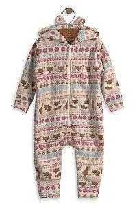 Macacão em Malha Soft com Orelhinhas - Up Baby