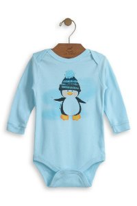 Body Pinguim Manga Longa - Up Baby