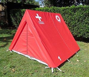 Barraca de Camping Modelo Canadense Natura Emergência S.O.S Primeiro Socorros Gripa Tents Padrão Vermelha & Branca