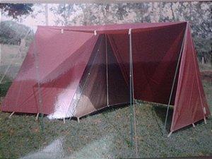 Barraca de Camping Modelo Canadense Natura Residence 6 Lugares Especial Com Avance/Extensão Acoplada (Varanda e Porta) Personalizada / Customizada / Coloridas / Silcadas / Estampadas Gripa Tents Especial Diversas Cores
