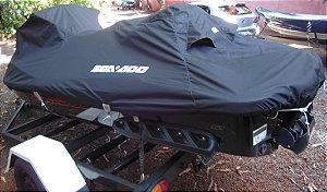 Capa/Lona de Cobertura Armazenamento Para Proteção e Transporte Para Jet Ski Moto Aquatica Em Night & Day