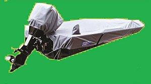 Capa/Lona de Cobertura Armazenamento Para Proteção e Transporte Para Lanchas  de Alumínio Até 19 Pés Em Nylon 600