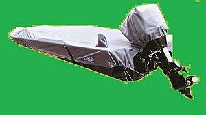 Capa/Lona de Cobertura Armazenamento Para Proteção e Transporte Para Lanchas  de Alumínio Até 23 Pés Em Nylon 600