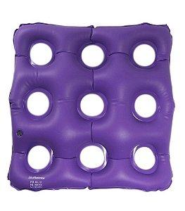 Almofada Anti Escara Inflável com Orifícios para Cadeirantes e Lesão no Cóccix