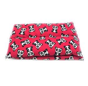 Bolsa Térmica de Sementes Ursinhos Panda - Calor Úmido - Frio 38 x 12Cm