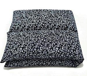 Bolsa Térmica de Sementes Plus Size Floral Preto e Branco - Calor Úmido - Frio 42 x 16Cm