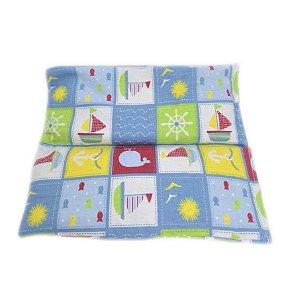 Bolsa Térmica de Sementes para Bebê Barquinhos - Calor Úmido - Frio 15 x 16Cm