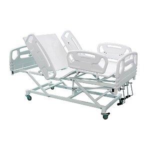 Cama Hospitalar Manual 3 Movimentos com Elevação do Leito Luxo