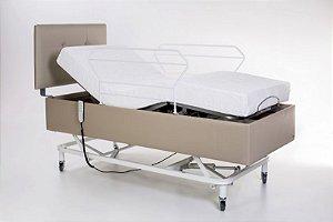 Cama Hospitalar Motorizada 3 Movimentos Pilati Confort + Cabeceira Estofada + Colchão Articulado D33